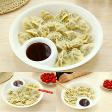 Plastic Fruit Bowl Dumplings Dish Dual-layer Disc Tool Hot Sale New #71317(China)