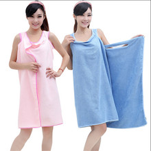 Hot sale magic bath towel woman female Super absorbent colorful bath towels for home hotel Wearable 5 colors to choose FF081(China)