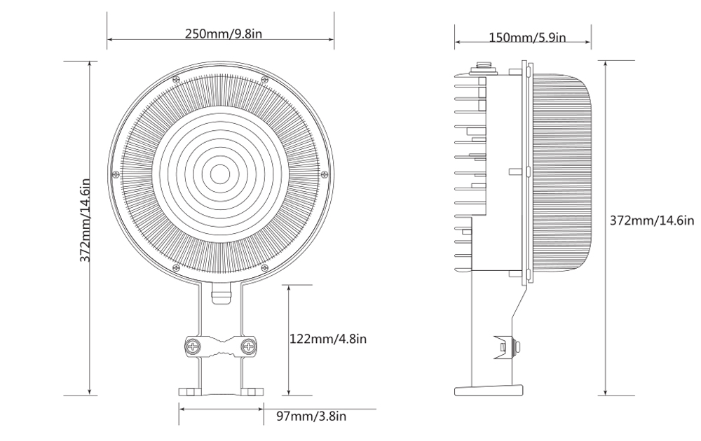 dust to dawn photocell inside-sizes
