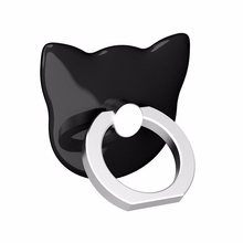 Universal New Luxury Cartoon Cat head 360 Degree Finger Ring Mobile Phone Smartphone Stand Holder For all phone