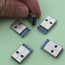 5pcs/lot USB 3.0 A Type Male Plug Connector G47 for High-speed Data Transmission Free Shipping(China)
