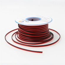 CBAZY 26AWG 2pin RED Black wire Hardwire 26ga Hook up Wire Cable Extension Cable 2 Wire 300V 15 Meters /49.2ft(China)
