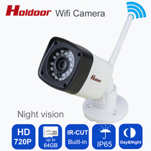 720p WIFI Camera HD IP 1MP Megapixel Onvif 2.0.4 I65  Wireless Security CCTV IP Cam IR Infrared SD Card Slot P2P Bullet Kamera