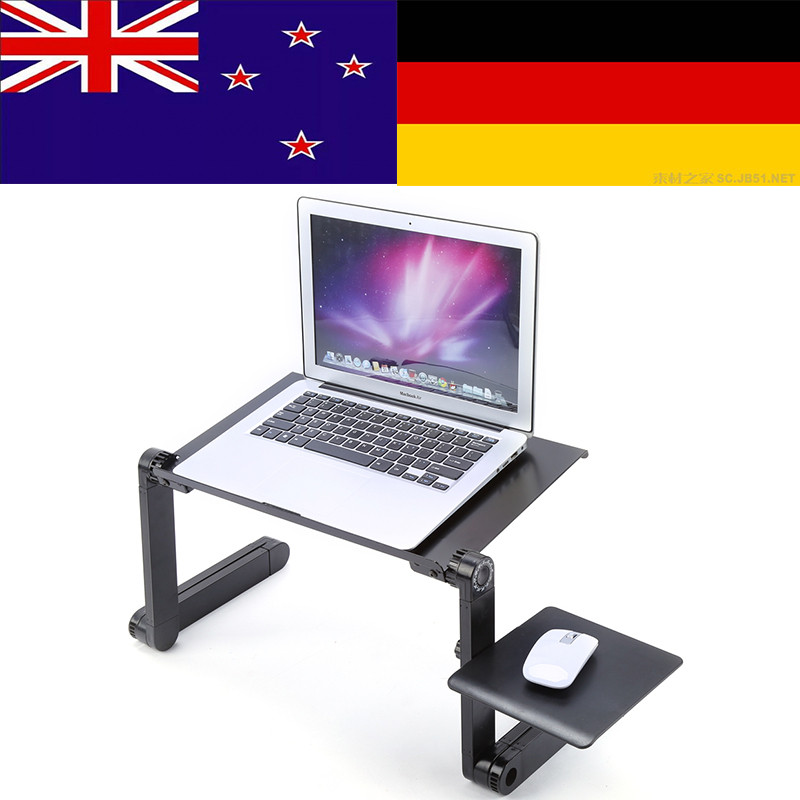 Computer Desks Portable Adjustable Foldable Laptop Notebook Lap PC Folding Desk Table Vented Stand Bed Tray bandeja plegable (China)