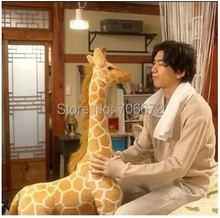 large 120cm lovely giraffe plush toy simulation giraffe doll Christmas gift t9688