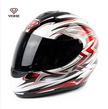 Motorcycle Full face helmet yh-993 white red lightning for men women,Motorbike YOHE 993,red silver blue electric bicycle helmets