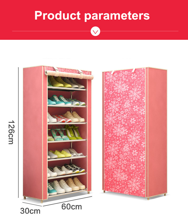 Modern minimalist shoe 8 layer non-woven dust creative combination cabinet storage rack organizer shoe storage home Furnitur 2