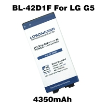 Top LOSONCOER 4350mAh BL-42D1F Battery For LG G5 Battery H868 H860N H860 F700K H850 H830 H820 VS987 LS992 US992 F700L F700S H831(China)