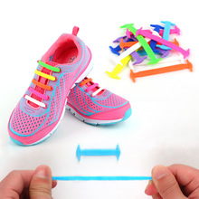 Creative Children Shoelaces Sport Athletic No Tie Shoelaces Child Shoes Laces Lazy Elastic Silicone Shoe Lace Sneakers Fit Strap