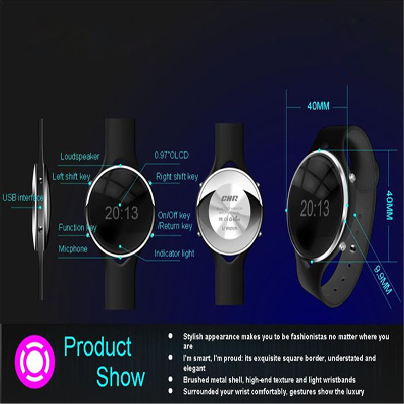 1PC Bluetooth Wrist Smart Watch Phone Mate For 2