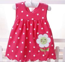 Baby Dress Top Quality  2017 baby girls dress Princess 0-2years Girls Dress Cotton Clothing Dress Summer Girls Clothes Low Price