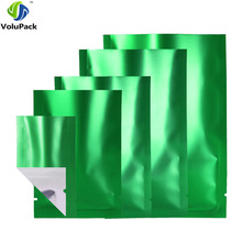 High Quality 100pcs Clear/Silver/Green Gift Package Bag Aluminum Foil Plastic Heat Sealing Open Top Pouch(China)
