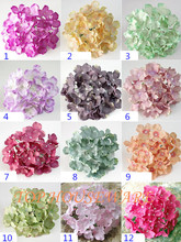 "13New Colors! 15cm/6"" 50PCS Artificial Hydrangea Flower Head For Diy Wedding Wall Flower Bouquet  Wreath Home Decorative Flower"