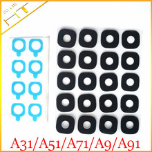 10pcs Glass material Back Camera Cover Lens with sticker for samsung galaxy A310 A510 A710 A9000 A910 / A3 A5 A7 A92016(China)