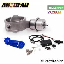 AUTOFAB - Exhaust Control Valve Set With Vacuum Actuator CUTOUT 89mm Pipe OPEN with Wireless Remote Controller AF-CUT89-OP-DZ