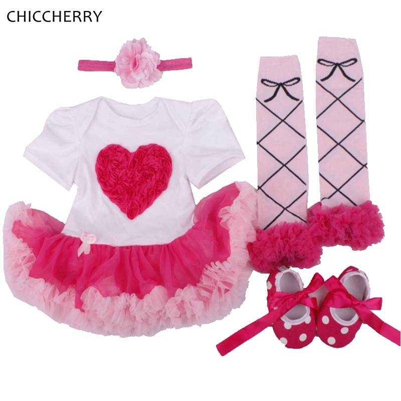 Love Applique Ruffle Lace 4pcs Baby Girl Clothes Set Recem Born Infant-Clothing Girls Birthday Outfits Kids Party Clothes Gift<br><br>Aliexpress