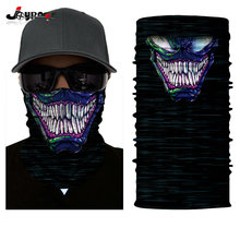 Multi Bandana Skull Motorcycle Biker Face Mask Neck Scarf Skull Bandana Scarf(China)