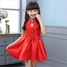 Summer style Girls dress children's Chinese wind princess dress Cuhk child cheongsam sundress size 110-160