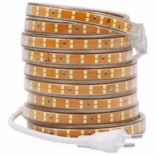 SMD 2835 Double Row led strip 220V 240V 156leds/m Waterproof led tape rope stripe lighting 5m 10m 15m 20m 50m 100m EU power plug(China)