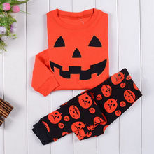 2016 New Winter Halloween Baby Sets Toddler Kids Baby Boys Girls T-shirt Tops+Long Pants Clothes 2PCS Outfits Set(China)