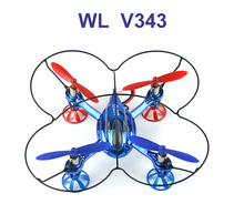 New Arrival WLtoys V343 2.4GHz Mini helicopter 4-axis RC UFO with 6-axis Gyroscope Electric Radio Control quadcopter(China)