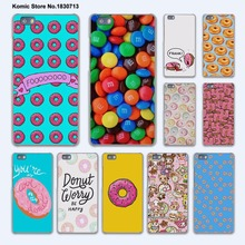 Cute Donut chocolate Sweet kawai hard transparent phone Cover Case for huawei P9 P8 Lite P9Plus P7 Mate 9 Mate S 8 7(China)