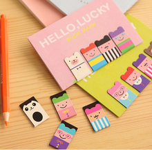 4 pcs/set Novelty Gift Kawaii Magnetic Bookmarks Books Marker of Page Marcador de Livro Stationery Paperclip Office Supplies(China)