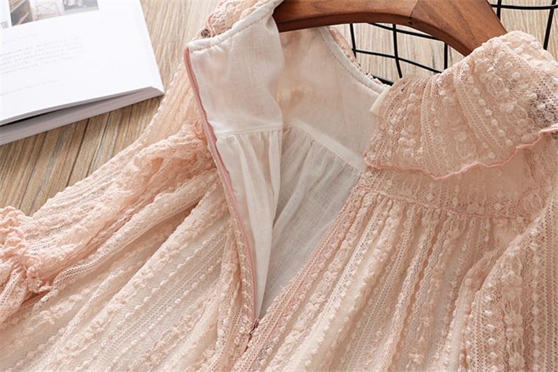 2-7 année filles robe 2018 printemps automne nouvelle mode fleur dentelle princesse robe enfant enfants robe filles vêtements filles vêtements 11