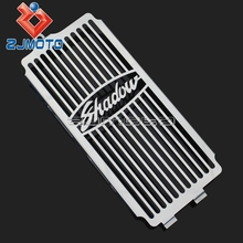 For Honda Shadow ACE VT400 / VT750 97-03 Spirit 750 01-08 Stainless Steel Radiator Grill Guard Grill Cover