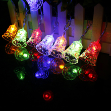 Multi Color Bell Led String 10leds Christmas Tree Decor Kid's love night light Festival Lantern Party Happy Holiday SW