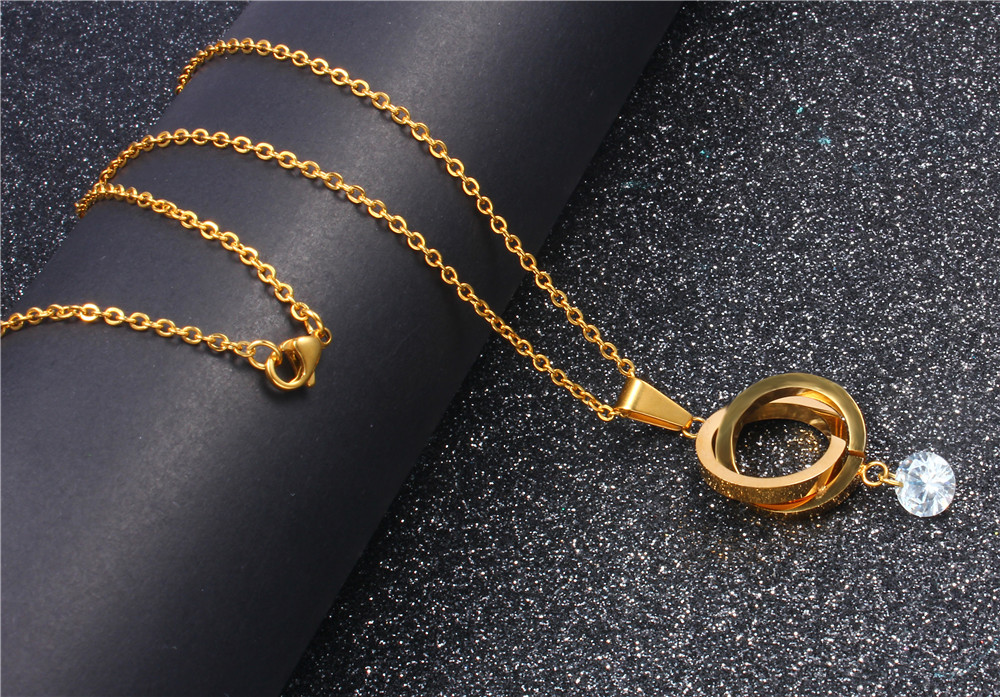 XUANHUA Stainless Steel Necklaces & Pendants Choker Collares Gifts For Women Jewelry Chocker Fashion Pendant Necklace Stone