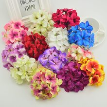 Home fashion artificial hydrangea party romantic wedding decoration silk wisteria diy Bride Bouquet garlands cheap fake flowers(China)