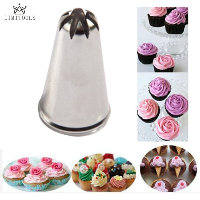 Limitools Rose Flower Cup Ice Cream Piping Tip Nozzle Cake Decorating Pastry Tools