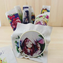 cartoon girl diy felt linen cotton fabric handicraft cloth dolls for sewing patterns printed material patchwork anime bag fabric