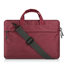 Cheap Felt Laptop Sleeve For Waterproof Case Protective Shell Notebook 15.6 Inches Comput Bag (Red wine)
