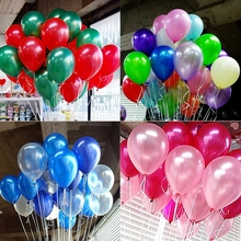 50pcs/lot 10 Inch Latex Shiny Balloons Air Balloons Birthday Party Wedding Decoration Kids Ballons Pink Purple Party 1.5g CP0713