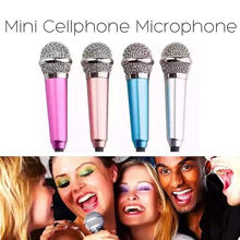 3.5mm Mini Stereo Studio Speechs Microphone For iPhone PC Laptop Skype MSN Sing(China)