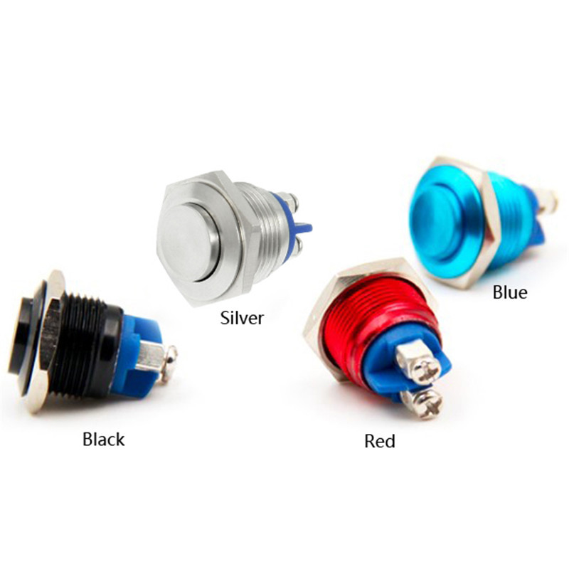 1 PC New 16mm Anti-Vandal Momentary Stainless Steel Metal Push Button Switch Raised Top sa097 P50<br><br>Aliexpress