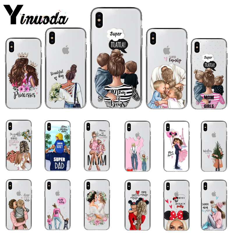 Phone Pouch Phone Bags & Cases Official Website Fashion Black Brown Hair Baby Mom Girl Queen Hard Pc Phone Case Cover For Iphone X 5 5s Se 6 Xr Xs Max 7 8 8plus 100% High Quality Materials