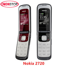 2720 Unlocked Original Nokia 2720 Mobile Phone with Original Screen Bluetooth FM refurbished free shipping(China)