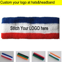 Adult Towel Headbands Sports Sweat Head wears terry knitted Headscarf Custom LOGO Apparel Accessories Hood sweatband from 50pcs(China)