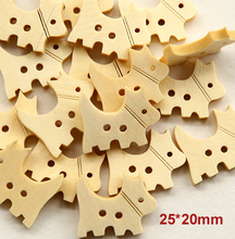 New kawaii dog design wooden buttons bulk button 25*20mm ewing accessories(SS-484)