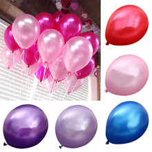 100pcs Latex Helium 12 Inch Ultra Thick Pearl Party Balloon Wedding Decoration 2017ing