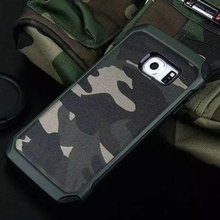 Camouflage Military Fan Cell phone case for Samsung Galaxy S6 case Anti-knock phone cover for S6edge case