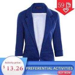 HDY Haoduoyi 2019 весенне-осенние тонкие женские официальные пиджаки офисная работа, открытая передняя вырезка, Женский блейзер, пальто, Лидер прод...