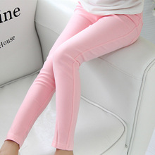 kids 2017 Spring and summer children's clothing skinny full length candy colored pencil wholesale girls leggings girl pants