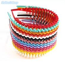 12Pcs/Lot Korea Style Hair Comb Candy Color Wavy Hair Hoop Spring Spiral Hoop Head Band Hair Accessories Hair BandsFor Women(China)