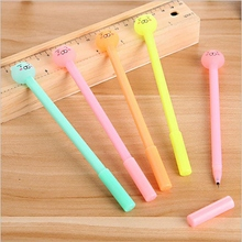 4Pcs Creative Stationery Cute Candy Color Gel Pen 0.38mm Cute Bear Magic Friction Water Signature Pen Chancery School Supplies