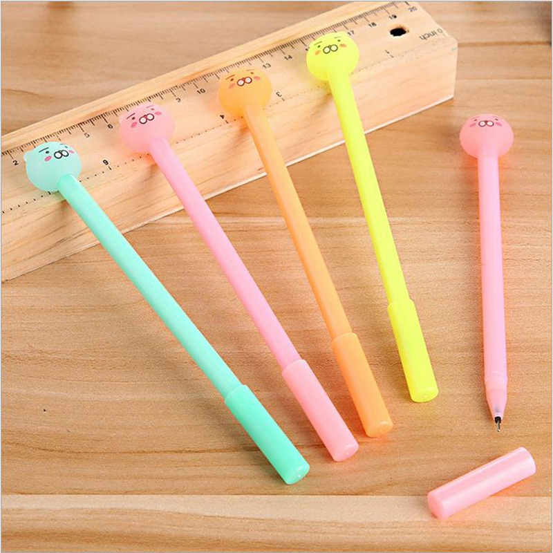 4Pcs Creative Stationery Cute Candy Color Gel Pen 0.38mm Cute Bear Magic Friction Water Signature Pen Chancery School Supplies(China (Mainland))