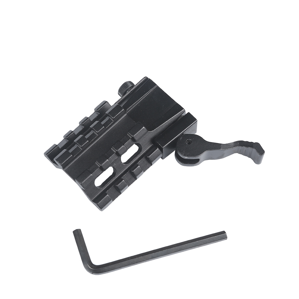 Low Profile 45 Degree Offset Flat Top Mount Dual 20mm Side Rail For Sight Light